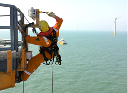 Hi Abseiling Ltd north sea windfarm coatings by irata trained personel